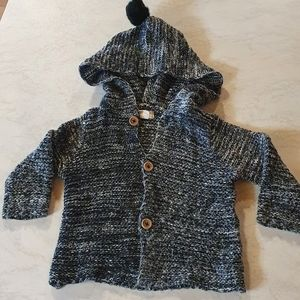 Size 1 Baby knitted style hooded jacket